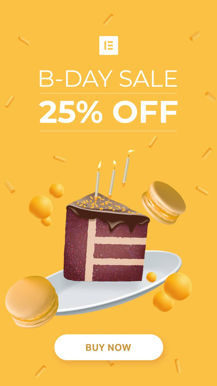 coupon Elementor -25%