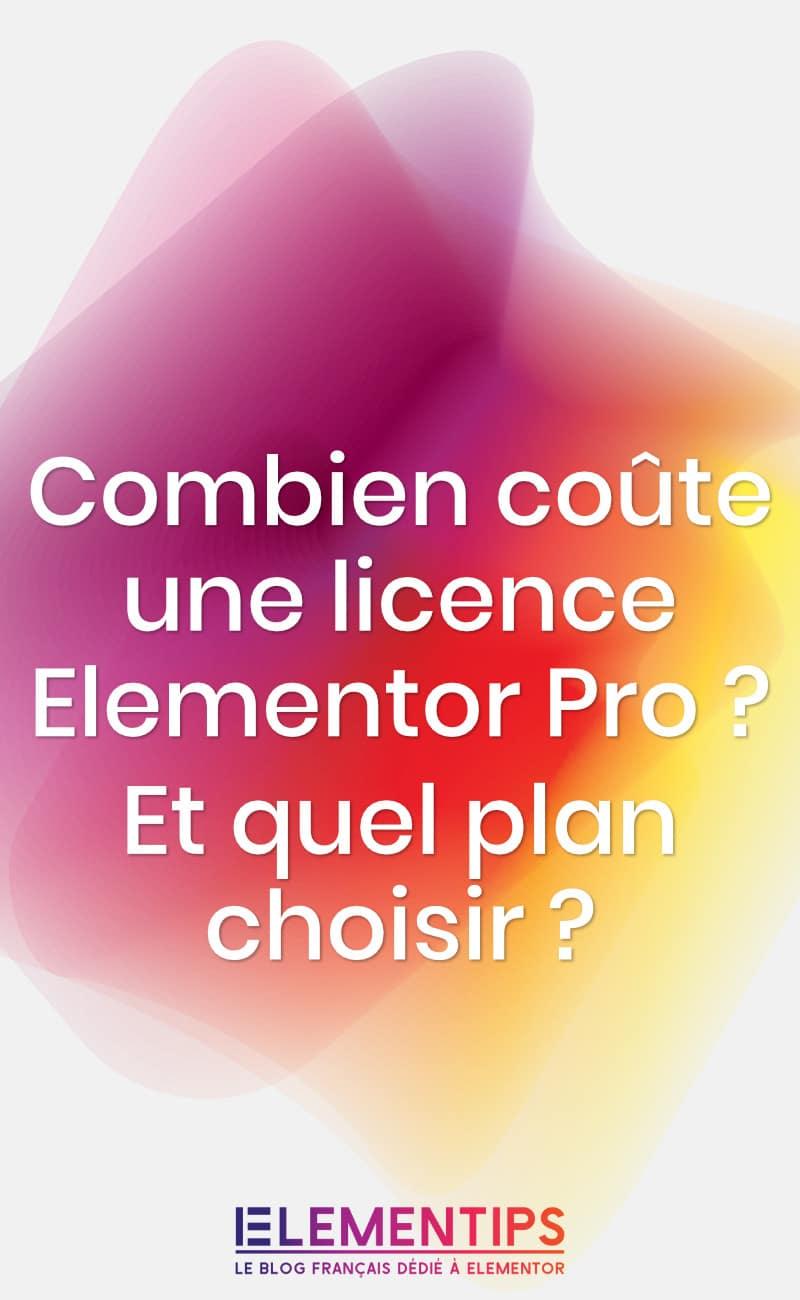 Combien coûte Elementor Pro ?