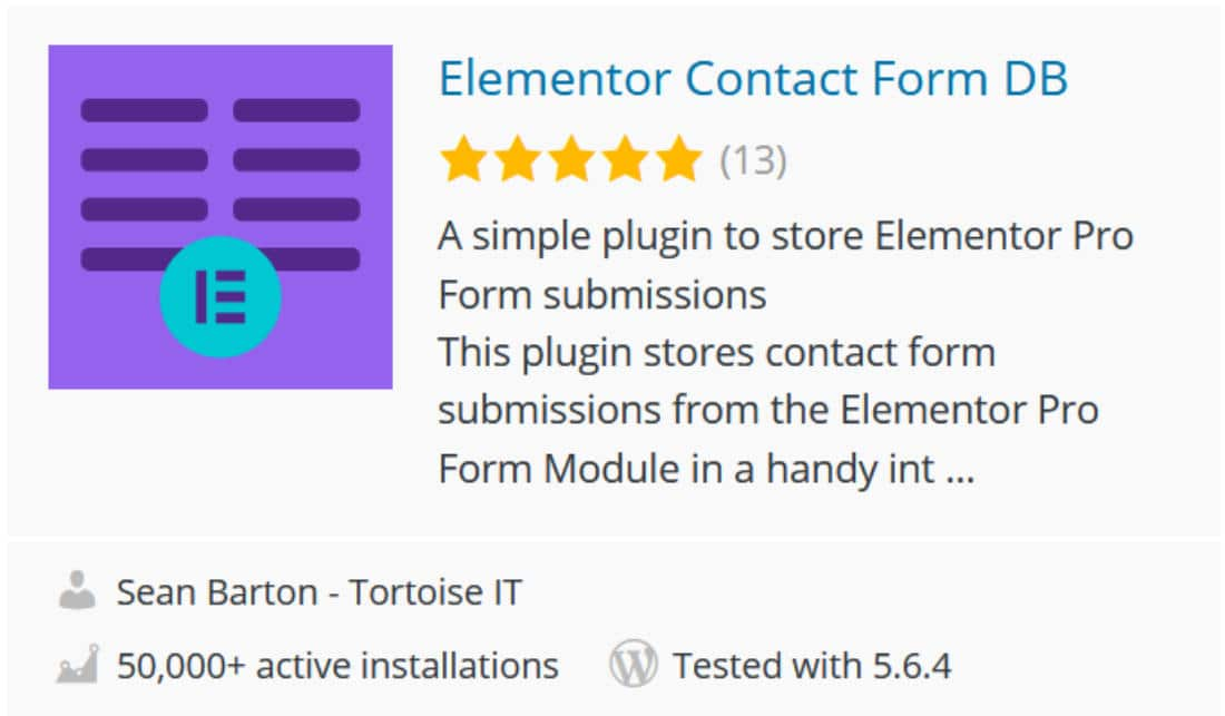 Contact form addon Elementor