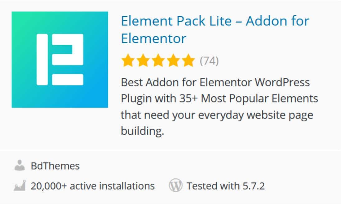 Element pack lite : addon Elementor