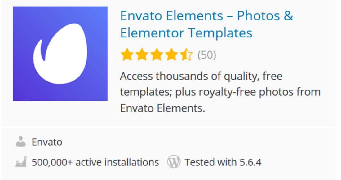 Envato elements Addon pour Elementor